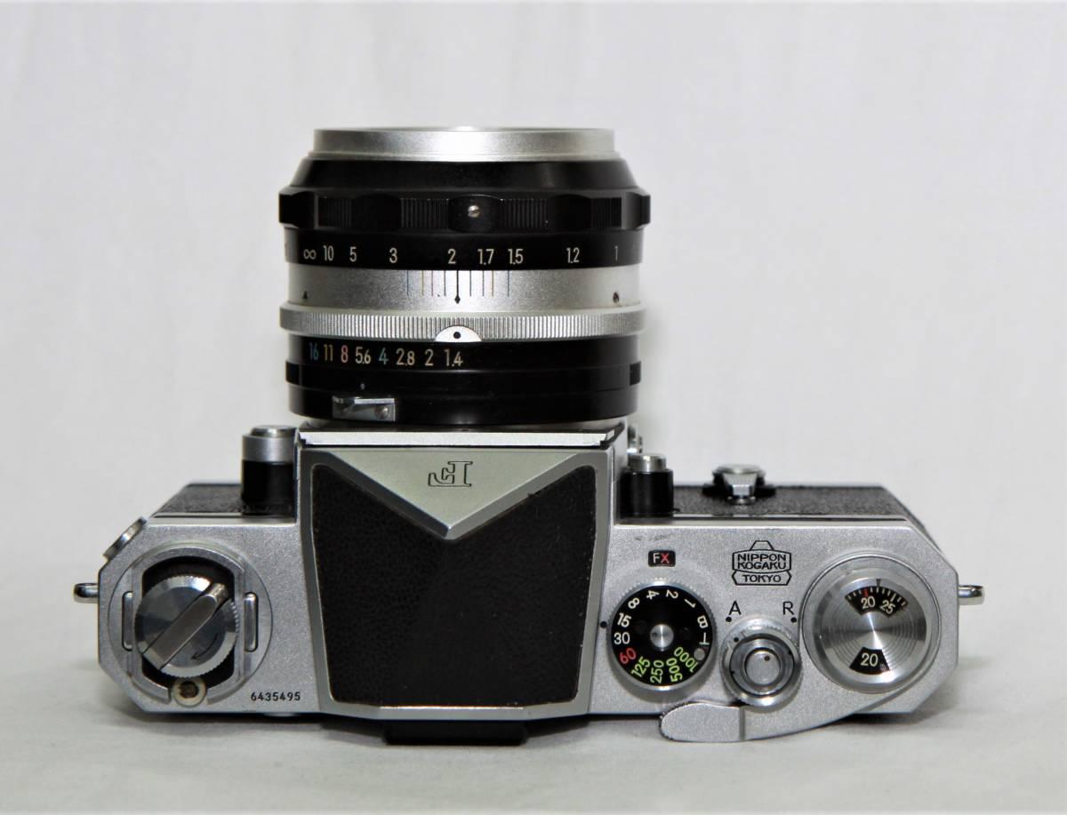Nikon F アイレベル 643万台 NIKKOR-S Auto 1:1.4 f=5.8cm 露出計付き_画像4