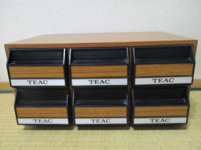 Retro TEAC Teac Cassette Tape Storage Case All 7 2 Ps 6 Drawer