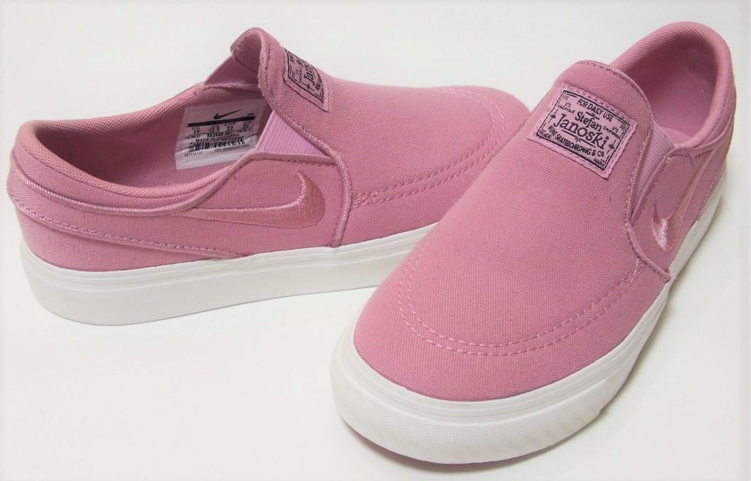 3de14e225c3c NIKE SB STEFAN JANOSKI CNVS SLIP pink 25cm Nike Stephen jano ski slip-on  shoes