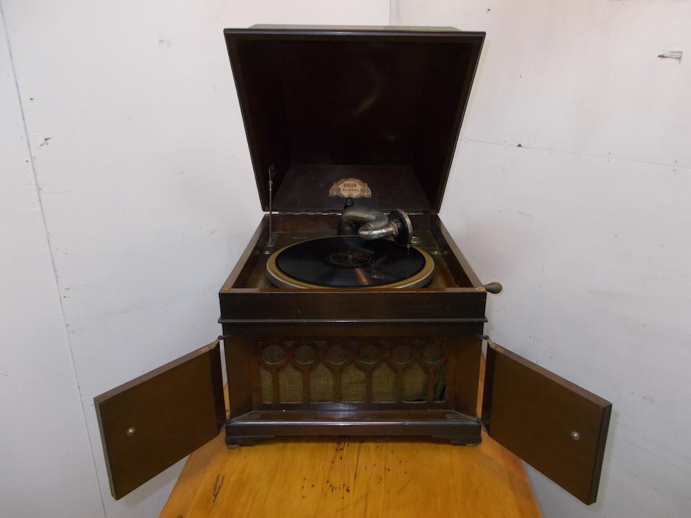 ◆古い宮型蓄音機◆SPEED NO.5.◆◆アンティーク