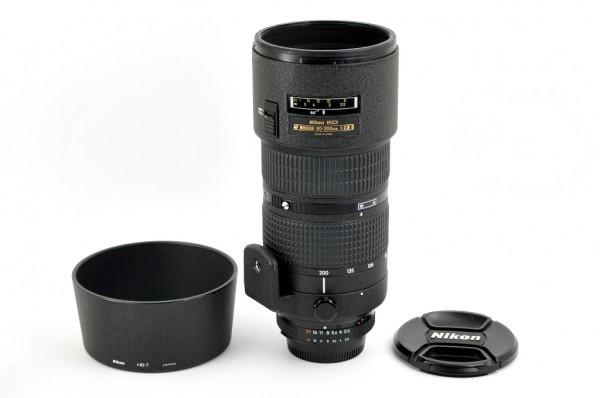 【良品】Nikon AF NIKKOR 80-200mm F2.8D ED 人気の大口径望遠ズームレンズ #2553_前後キャップ/フード付