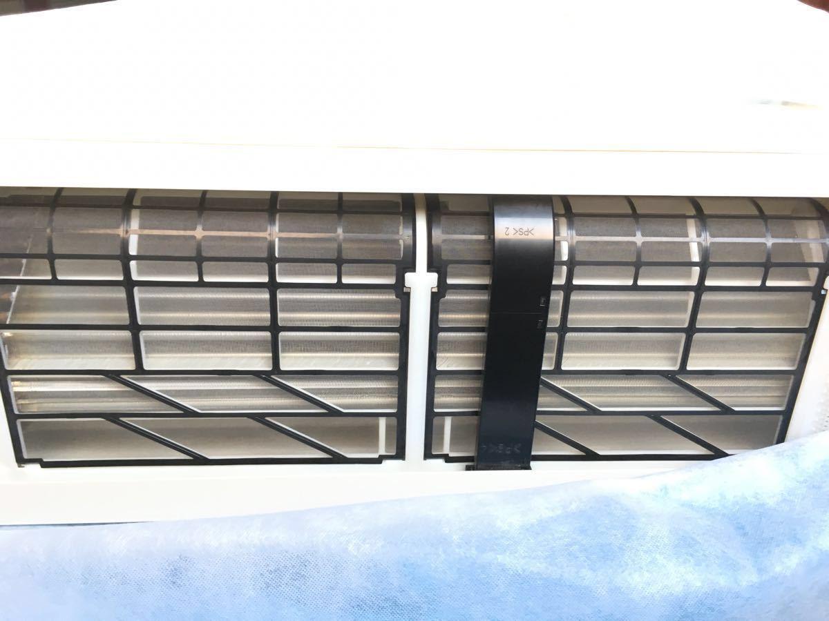 2021年8月7日までヤマダ電機保証あり 美品 パナソニックインバーター冷暖房除湿タイプ自動おそうじルームエアコン CS-281CXR 8~12畳_画像4