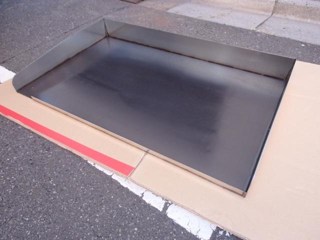 即落札 新品未使用 鉄板 のみ 業務用 鉄板焼 900×550 グリラー グリドル 鉄板厚み6mm お好み焼き 焼きそば ステーキ等 鉄板焼き 鉄板のみ_画像2