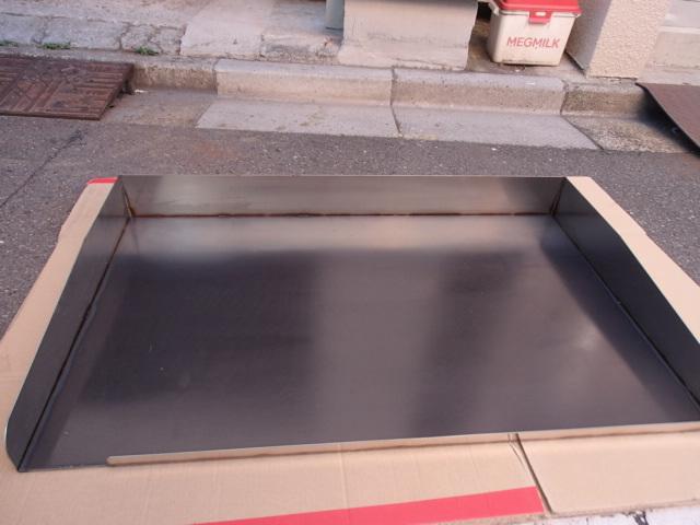 即落札 新品未使用 鉄板 のみ 業務用 鉄板焼 900×550 グリラー グリドル 鉄板厚み6mm お好み焼き 焼きそば ステーキ等 鉄板焼き 鉄板のみ_画像3
