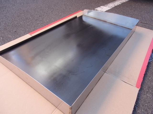即落札 新品未使用 鉄板 のみ 業務用 鉄板焼 900×550 グリラー グリドル 鉄板厚み6mm お好み焼き 焼きそば ステーキ等 鉄板焼き 鉄板のみ_画像5