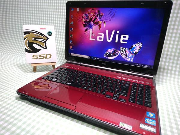 超高速 Core i7 【新品】360G SSD【超快速仕様☆Windows10】NEC LL750/F PC-LL750FS1SR メモリ8G BD-RE Office 高音質YAMAHA音源 1円~