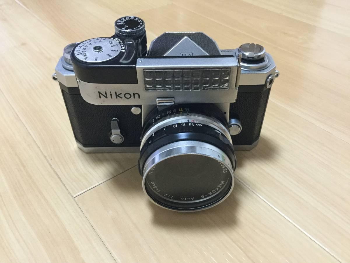 Nikon F アイレベル 640万台 NIKKOR-S Auto 1:2 f=5cm 9枚羽 露出計付き