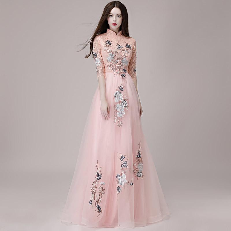 584e3804a05 замечательный цветное платье вечернее платье розовый   серый   wine red 3  цвет есть исполнение .