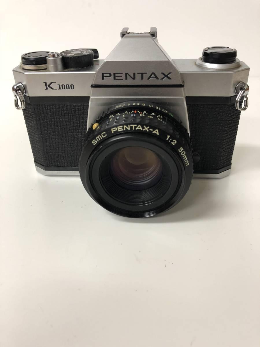 カメラ PENTAX K1000+PENTAX-A 1:2 50mm ko723