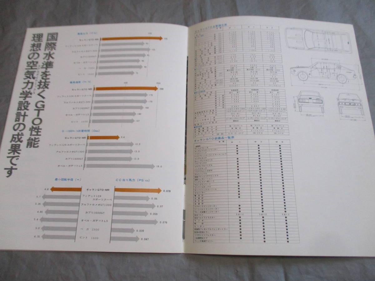三菱 ギャラン GTO FANTASY OFGTO カタログ 昭和レトロ 全14ページ_画像8