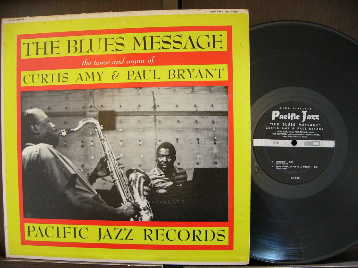 ■激レア■美盤オリジナル■CURTIS AMY & PAUL BRYANT■THE BLUES MESSAGE