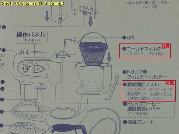 DeLonghi Moid.BCO261 コンビコーヒーメーカー、エスプレッソとドリップの両方対応ですが故障してます_画像9