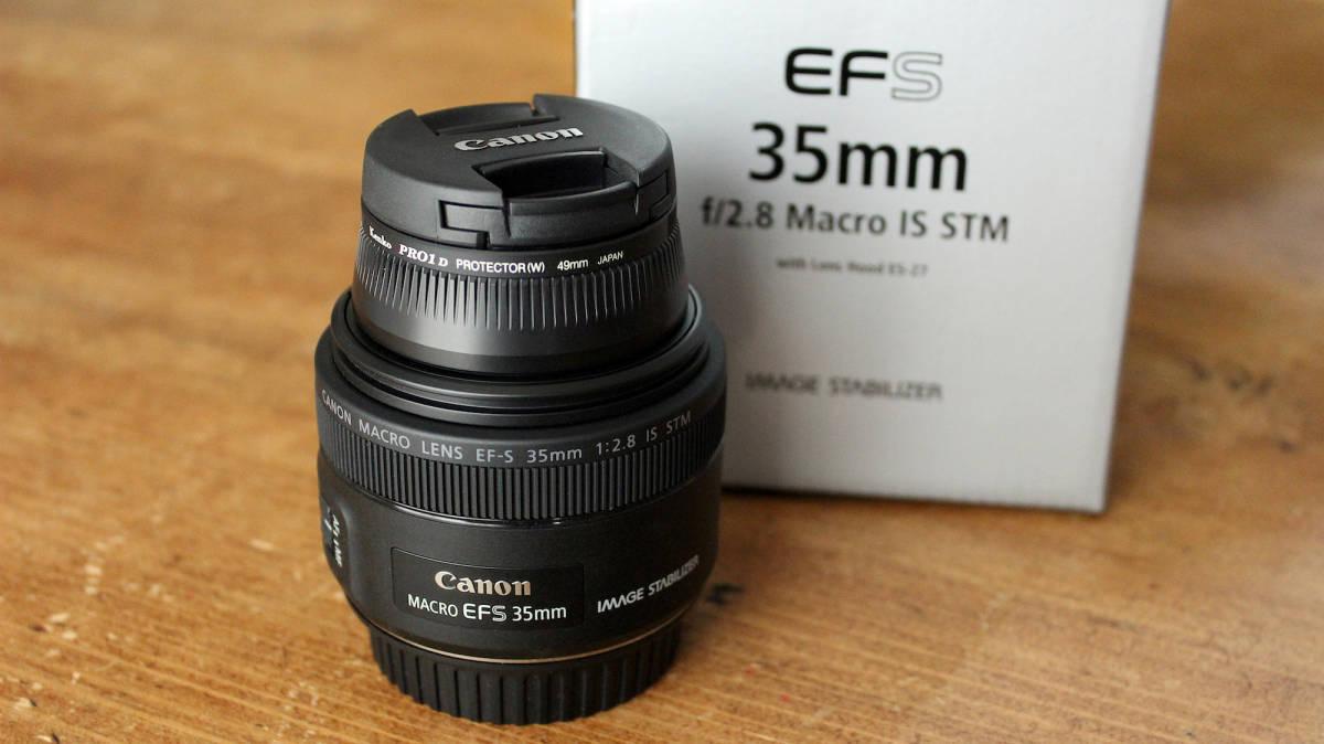 【極美品おまけ付き】 CANON EFS 35mm F2.8 MACRO IS STM マクロレンズ