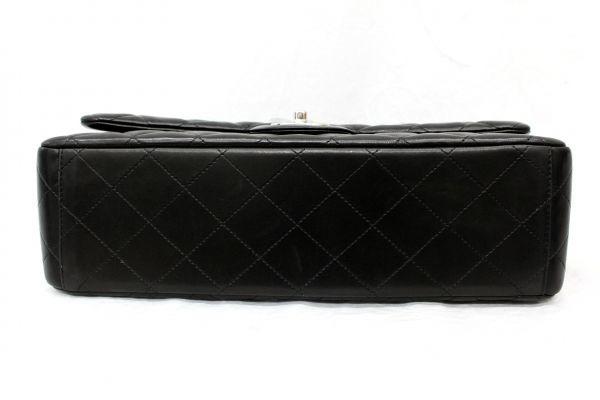 ●本物 新品未使用 シャネル CHANEL デカマトラッセ 二重蓋 チェーンショルダーバッグ ハンド マトラッセ ココ CC ダブルチェーン 黒 Z1750_画像6