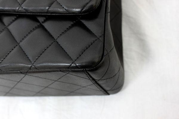 ●本物 新品未使用 シャネル CHANEL デカマトラッセ 二重蓋 チェーンショルダーバッグ ハンド マトラッセ ココ CC ダブルチェーン 黒 Z1750_画像9