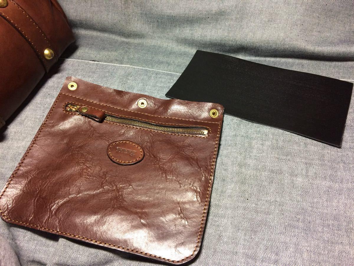 美品 HERZヘルツ バケツ型トートバッグ(T-70-S-CH)旅行鞄 ハンドバッグ ツールバッグ レザー 革 茶色(チョコ) 通学鞄 学生鞄 カバン 日本製_画像8