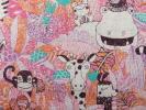 goropikadon56 - 新品 日本製 綿麻プリント生地【アニマルサファリ柄(Fun animals)】巾108cm×50cm