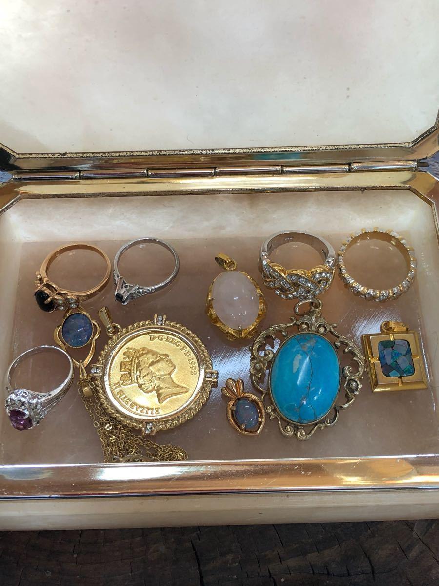 遺品整理品 片付け品 K18 WG 刻印 ブランド アクセサリー 時計 指輪 リング ネックレス ペンダント 大量 まとめて まとめ売り セット 4