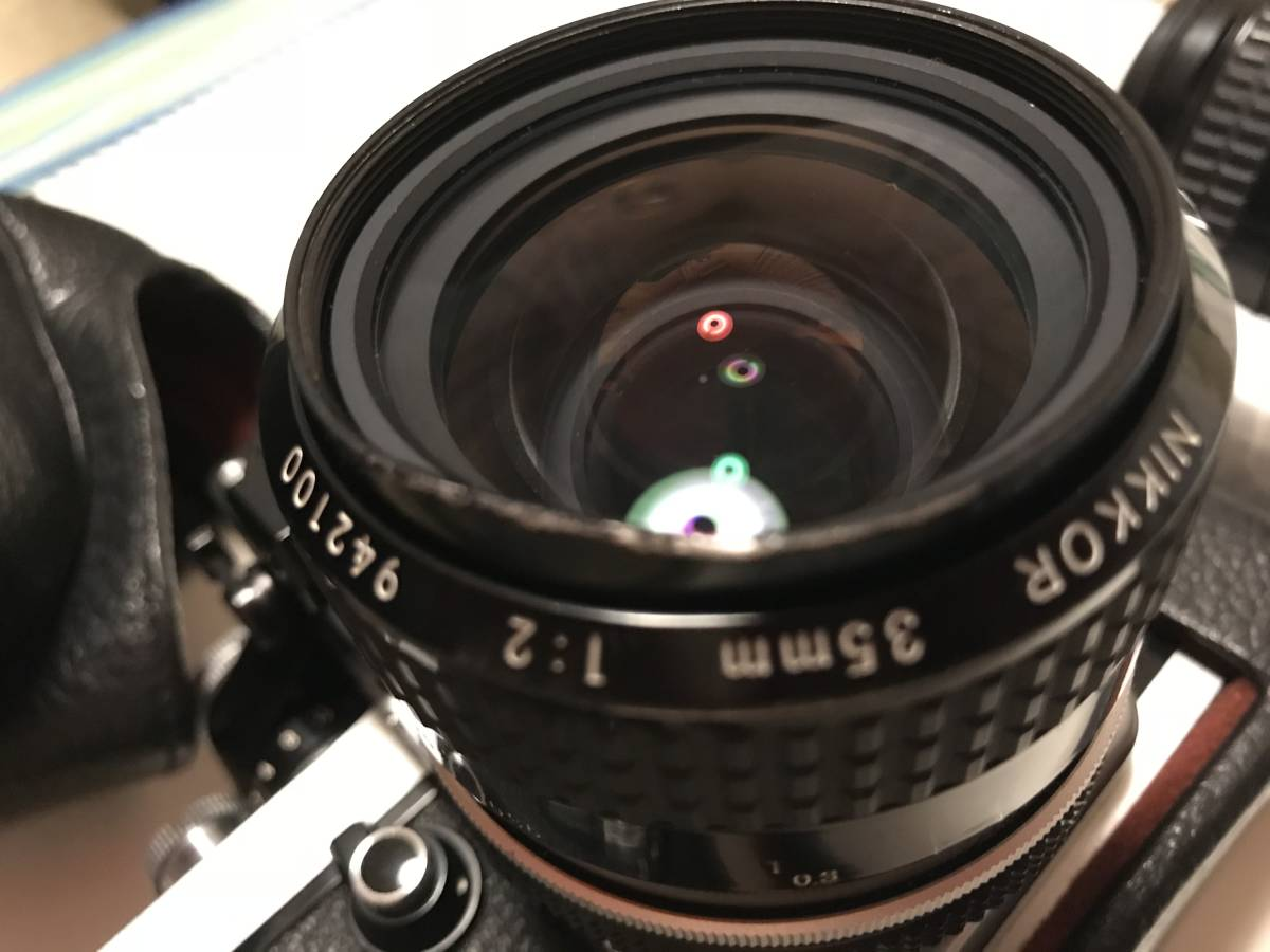 ★動作確認済・極上美品★ニコンNikon F2 フォトミック A ・フイルム一眼レフカメラ + Nikkor 35mm f 1:2レンズ&Nikkor 50mm f1:2_画像3