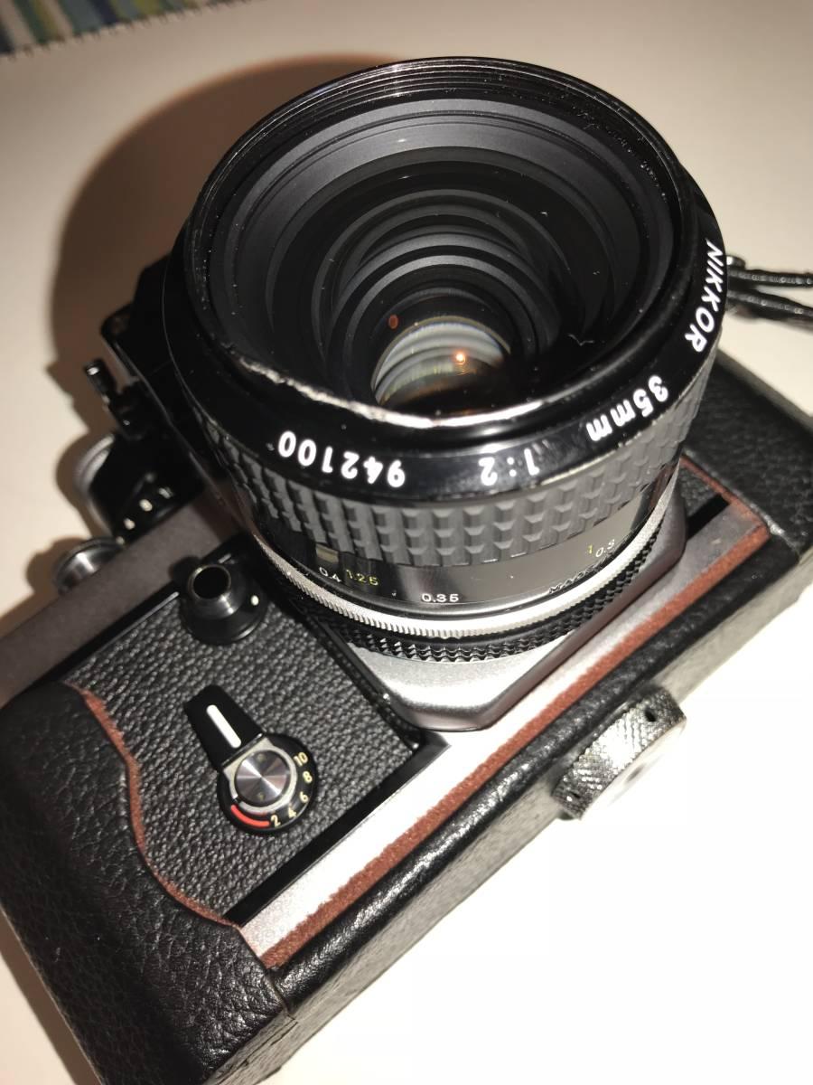 ★動作確認済・極上美品★ニコンNikon F2 フォトミック A ・フイルム一眼レフカメラ + Nikkor 35mm f 1:2レンズ&Nikkor 50mm f1:2_画像8