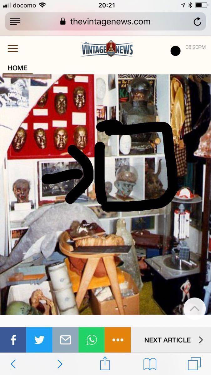 【世界に一つ!!サイン付き!!】フォーレスト・Jアッカーマンのコレクションの一つでスペースモンスターになります!_画像8