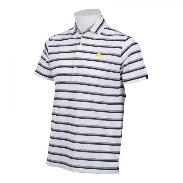 ルコックゴルフ le coq sportif GOLF メンズゴルフウェア モーション3D 半袖ニットポロシャツ 30%OFF ホワイト L寸 _画像1