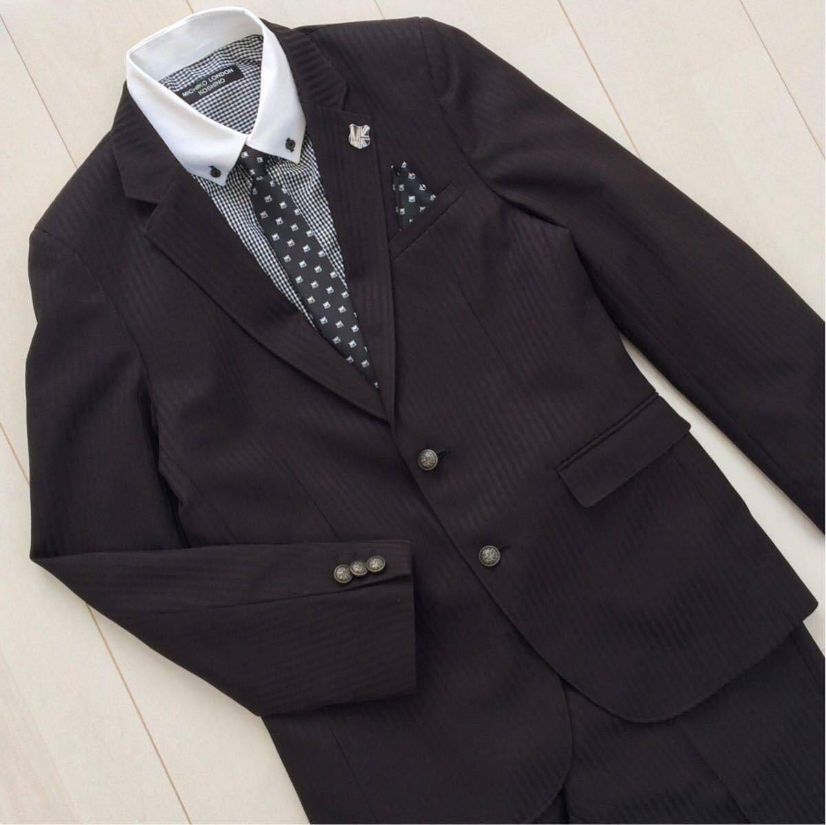 6a5857115ea8e 美品 ミチコロンドン スーツ 5点セット 165cm 165Aフォーマル 受験 面接 卒業式 入学