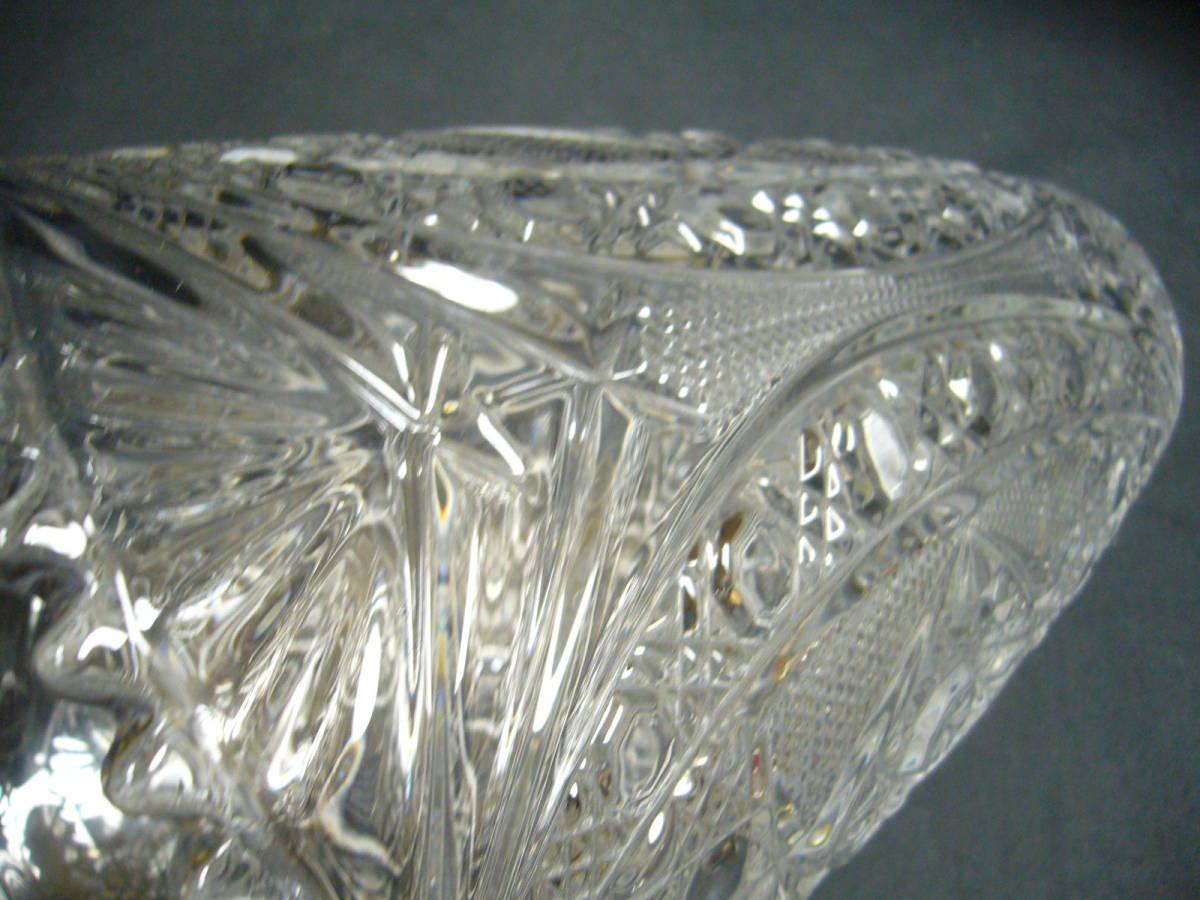 クリスタルガラス 花瓶 フラワーベース KAMEI クリスタル 未使用品_画像5