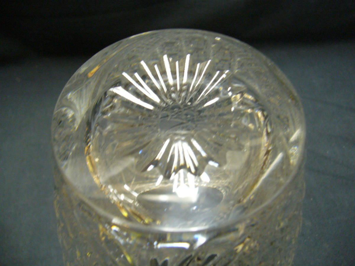 クリスタルガラス 花瓶 フラワーベース KAMEI クリスタル 未使用品_画像4