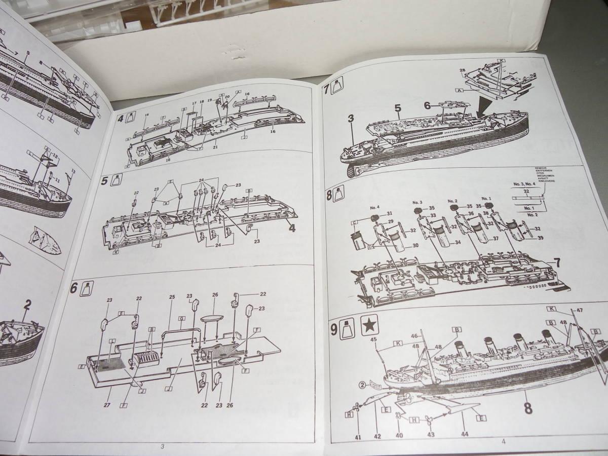 彷真模型 No.4901 1/550 タイタニック R.M.S TITANIC_説明図