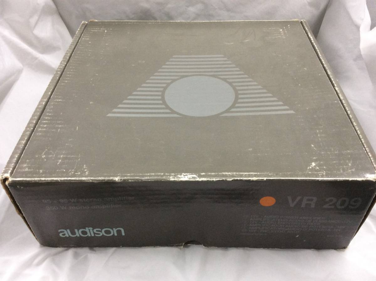 当時物 希少 絶版品 audison オーディソン VR209 赤 限定モデル 元箱 ステッカー オーナーズマニュアル 取扱説明書 本体無し アンプ無し_画像1