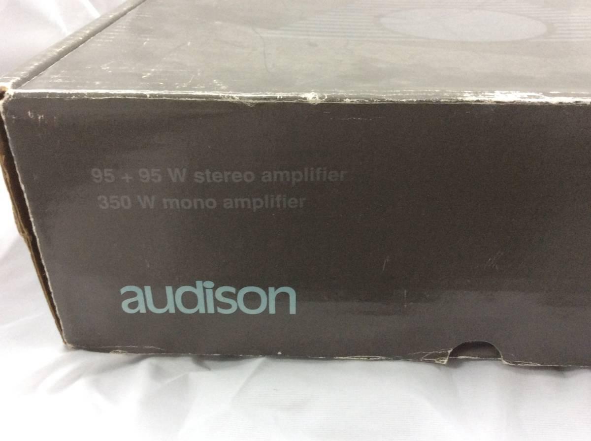 当時物 希少 絶版品 audison オーディソン VR209 赤 限定モデル 元箱 ステッカー オーナーズマニュアル 取扱説明書 本体無し アンプ無し_画像2
