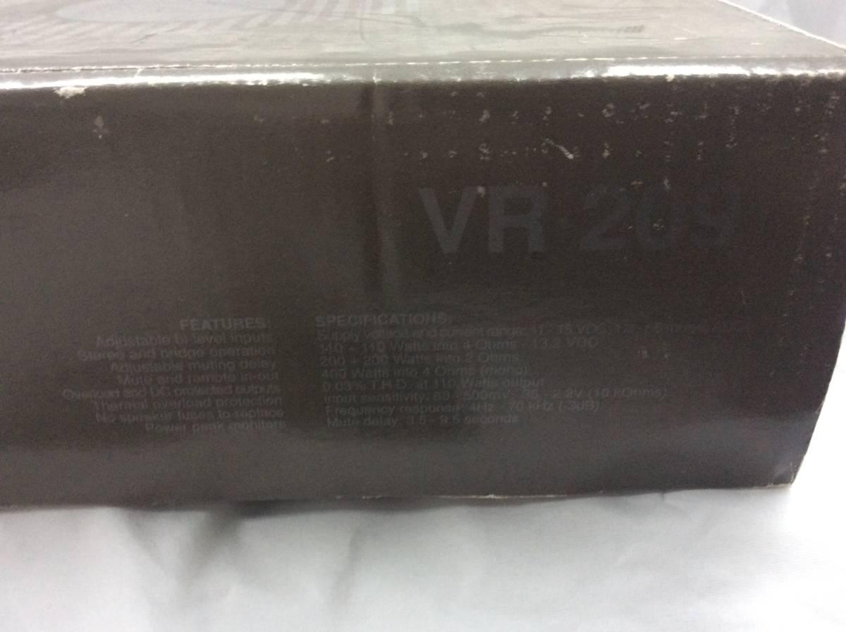 当時物 希少 絶版品 audison オーディソン VR209 赤 限定モデル 元箱 ステッカー オーナーズマニュアル 取扱説明書 本体無し アンプ無し_画像5