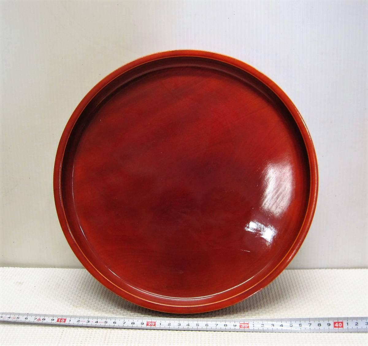 お盆/丸形のトレー/天然木/漆器/新品( 画像参考)