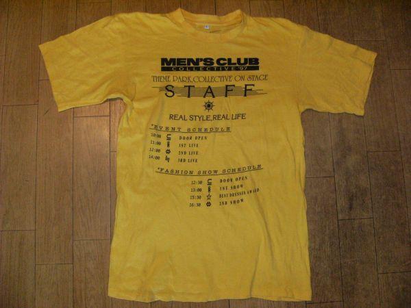 昭和レトロ 日本製 90年代 非売品 STAFF MEN\u0027S CLUB COLLECTIVE 1997 Tシャツ メンズクラブ 月刊 ファッション雑誌  アイビー・ルック