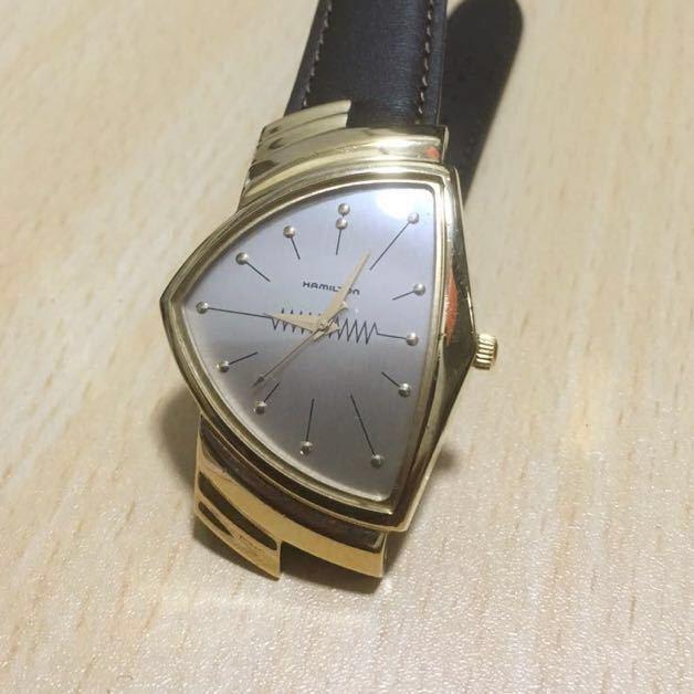 new arrival dad29 1b753 ハミルトン ベンチュラ メンズ ゴールド 6250 腕時計 クォーツ
