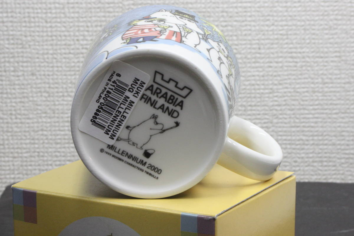 ムーミンマグカップ MILLENNIUM2000 アラビア ARABIA  2000年ミレニアム記念  未使用品_画像5