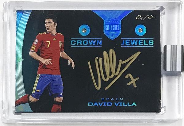 David Villa 2018 Panini Eminence Soccer Crown Jewels Auto Platinum 1枚限定!!1of1!!直筆サインカード スペイン代表