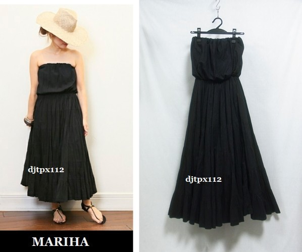 Deuxieme Classe取扱い 17ss *MARIHA マリハ*完売 草原の夢のドレス*ワンピース*黒ブラック_画像1