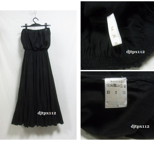 Deuxieme Classe取扱い 17ss *MARIHA マリハ*完売 草原の夢のドレス*ワンピース*黒ブラック_画像3