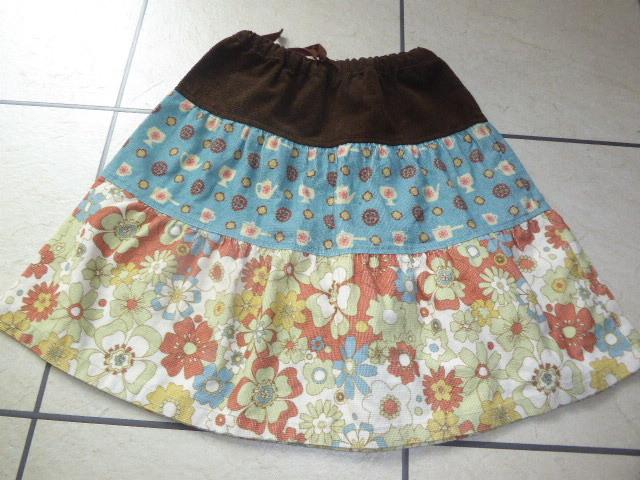リリニルス★かわいいスカート★パッチワーク風★Lillinils_画像1