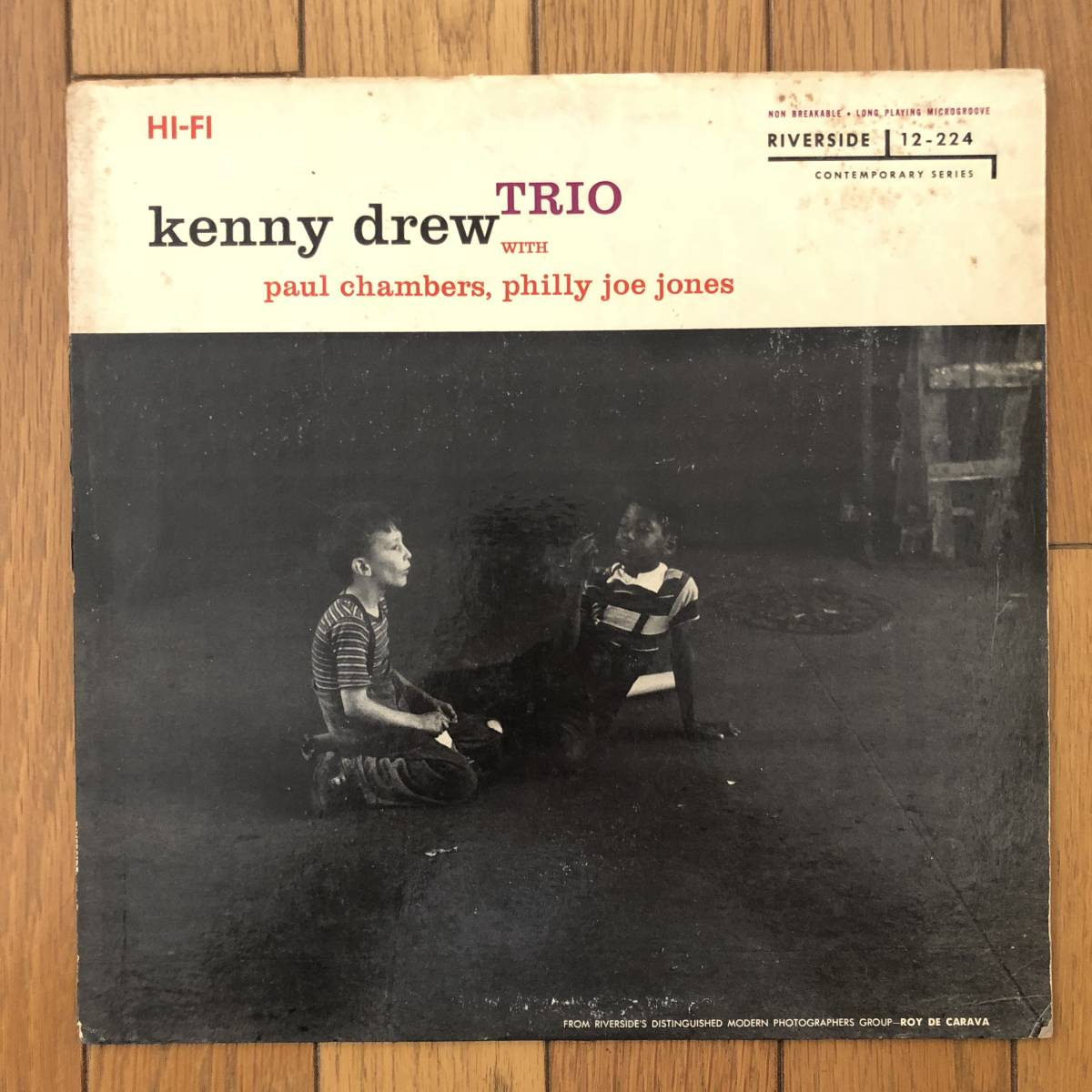 【白ラベル/フラット美盤】Kenny Drew Trio(Riverside RLP 12-224)