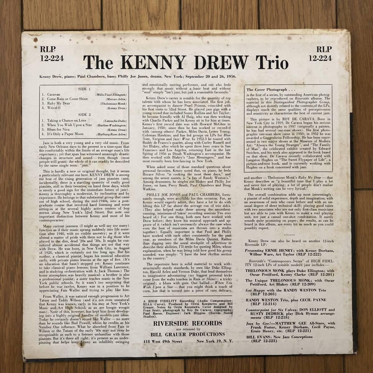【白ラベル/フラット美盤】Kenny Drew Trio(Riverside RLP 12-224)_画像2