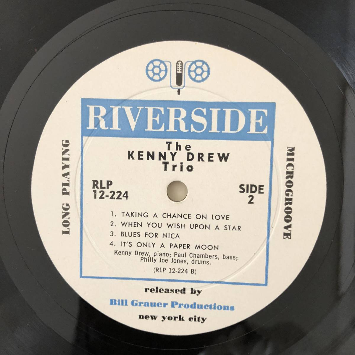 【白ラベル/フラット美盤】Kenny Drew Trio(Riverside RLP 12-224)_画像5