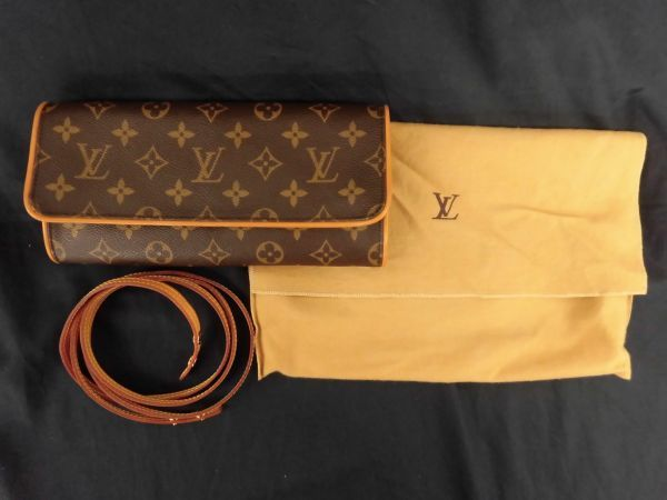 226☆mt 未使用 ルイヴィトン Louis Vuitton LV モノグラム ポシェットツインGM 2way ショルダーバッグ