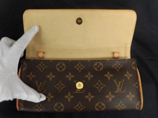 226☆mt 未使用 ルイヴィトン Louis Vuitton LV モノグラム ポシェットツインGM 2way ショルダーバッグ_画像4