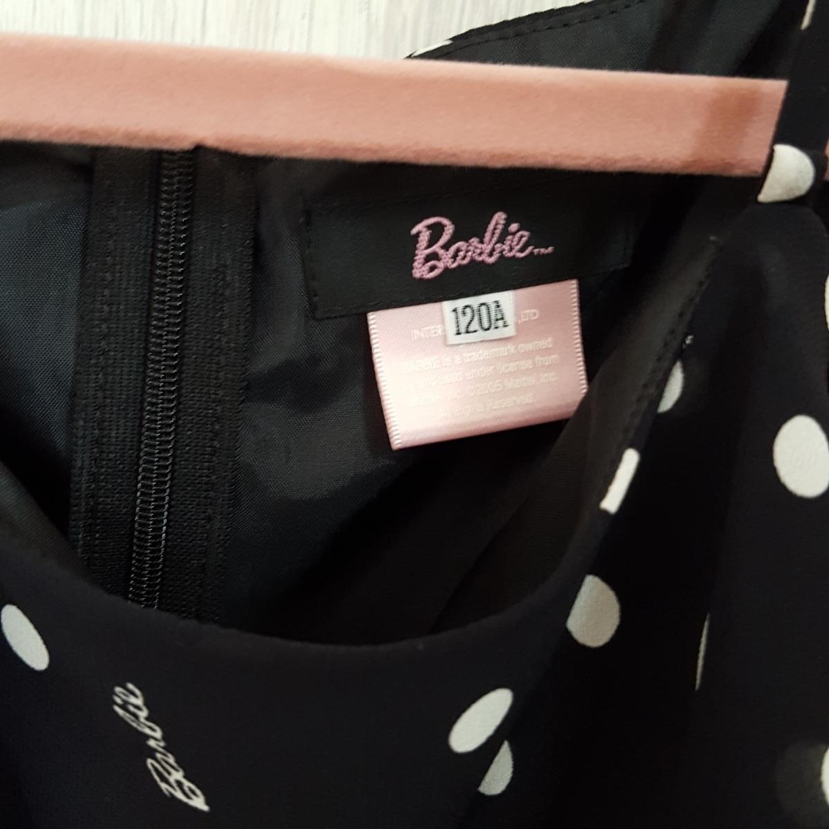 Barbie バービー シフォンワンピース フォーマルにも 120 超美品_画像5
