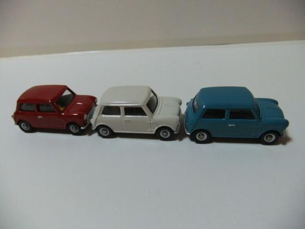 MINI  COOPER  赤・白・水色 CORGI TOYS TRACKSIDE CR4003-3 CAR MINI SET  1/76_画像6