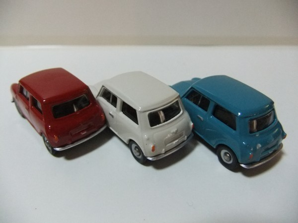 MINI  COOPER  赤・白・水色 CORGI TOYS TRACKSIDE CR4003-3 CAR MINI SET  1/76_画像3