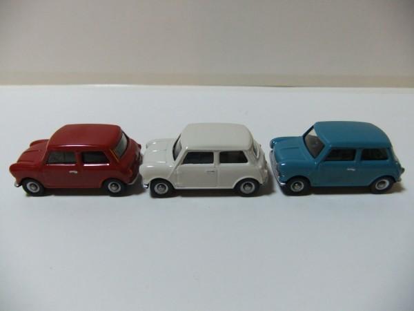 MINI  COOPER  赤・白・水色 CORGI TOYS TRACKSIDE CR4003-3 CAR MINI SET  1/76_画像4